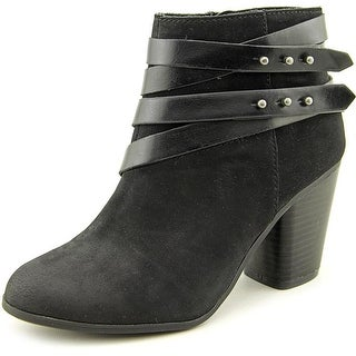 Material Girl Mini Women Round Toe Synthetic Black Ankle Boot