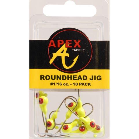Apex ap116-10-3 jig heads 1/16oz 10pk cht