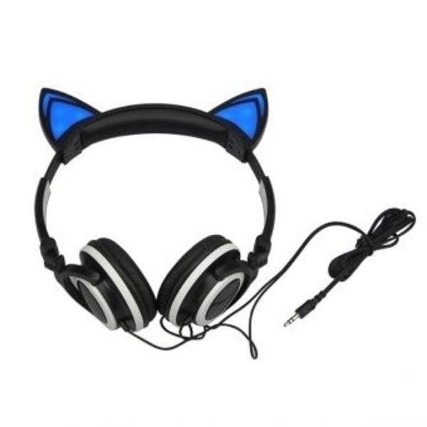 Shop Kepmov Foldable Flashing Glowing Cat Ear Headphones Gaming Headset Earphone With Led Light For Pc Laptop Computer Mobile Phone Overstock 31823886