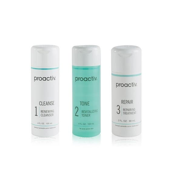 Shop Proactiv 3 Step Acne Treatment System 60 Day Overstock 11844045 Blemish Acne Treatment Toner
