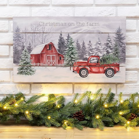"Glitzhome 24""L Wooden Farmhouse Wall Decor"