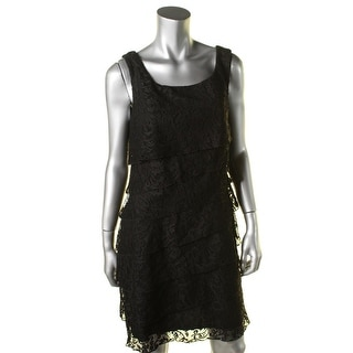 Connected Apparel Womens Lace Tiered Party Dress