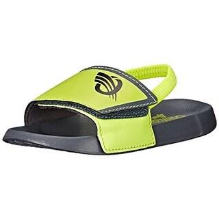 Osh Kosh Boys Shower Flat Sandals Colorblock Slingback - 9-10 medium (d)