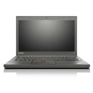Lenovo ThinkPad T450 14.1-in Refurb Laptop - Intel Core i5 5300U 5th Gen 2.3 GHz 4GB 180GB SSD Windows 10 Pro 64-Bit - Webcam