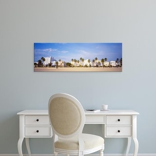 Easy Art Prints Panoramic Images's 'Day, South Beach, Florida, USA' Premium Canvas Art