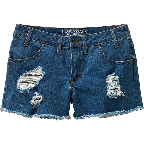Legendary Whitetails Ladies Dirt Road Cutoff Shorts - INDIGO