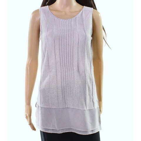 Nic + Zoe Women's Small Pleated Tunic Tank Cami Top