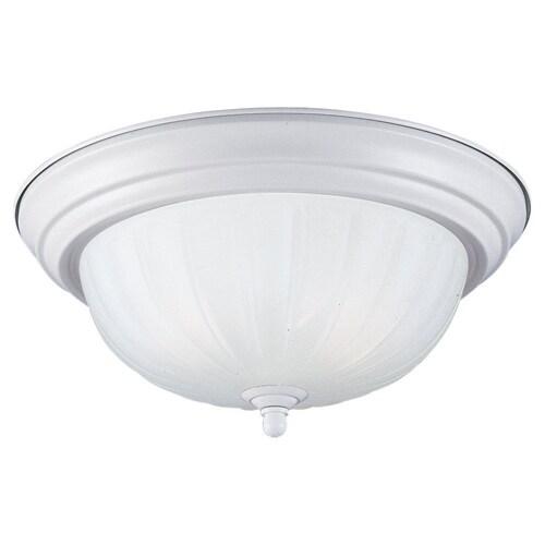 Sea Gull Lighting 79505BLE-162 Flush Mount with Satin White Glass Shades - Satin White