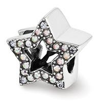 Sterling Silver Reflections Swarovski Elements Star Bead (4mm Diameter Hole)