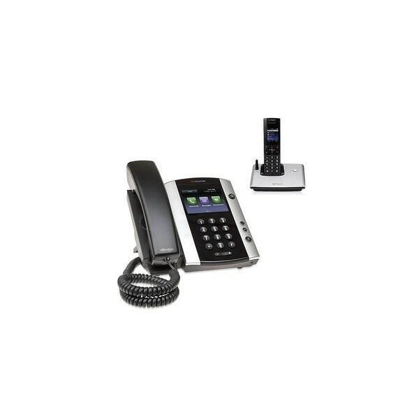 Polycom 2200-48500-001 VVX 501 12-line Business Media Phone with power supply & VVX D60 Handset