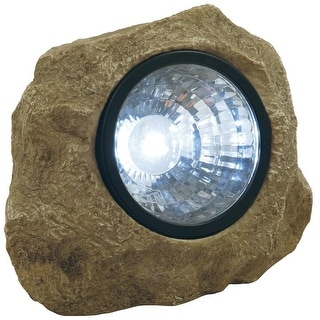 Moonrays 91211 Solar Rock Spotlight With Key Compartment, White
