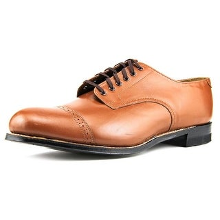 Stacy Adams Madison Men 2E Cap Toe Leather Tan Oxford