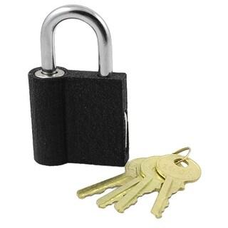 Home Gold Tone 4 Keys Door 1.6 Width Black Padlock
