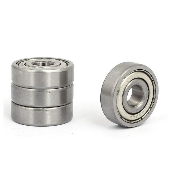 10mmx30mmx9mm Shields Dust-Proof Deep Groove Rolling Ball Bearings 6200Z 4pcs
