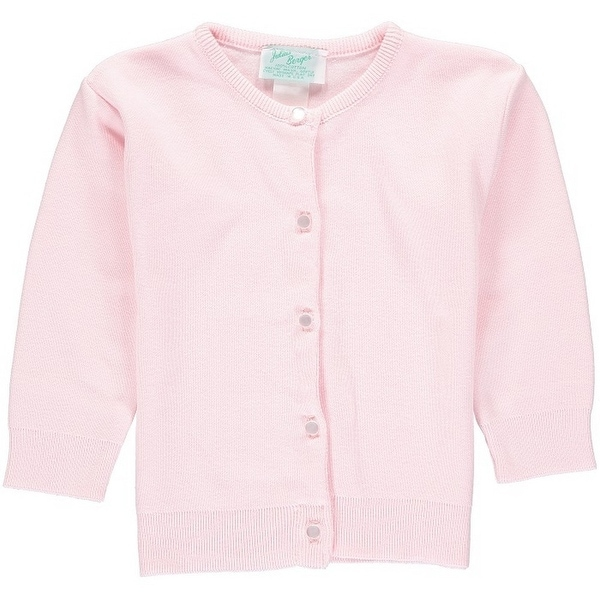 54ad6fe35c5 Julius Berger Baby Girls Pink Cotton Cashmere Waist Length Sweater