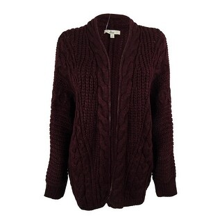 G.H. Bass & Co. Women's Long Sleeves Cable Knit Cardigan Sweater