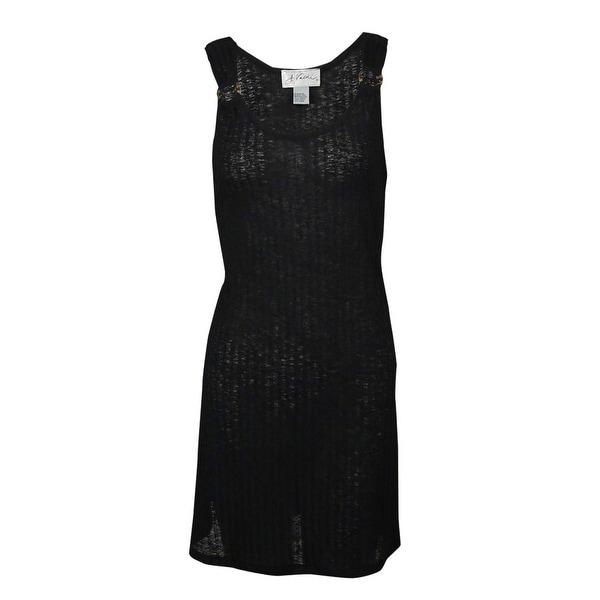 b61374ec61 Shop J Valdi Women's Tonal Striped Ring-Straps Swim Cover - Black - S - On  Sale - Free Shipping On Orders Over $45 - Overstock - 23447757