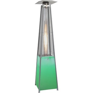 Hanover Outdoor HAN110SS 7-Ft. 42,000 BTU Square Propane Patio Heater with Stainless Steel Frame and - Stainless Steel