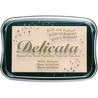White Shimmer - Delicata Pigment Ink Pad