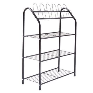 4-Tier Metal Shoe Rack Shelf