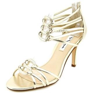 Nina Vetta Open Toe Leather Sandals