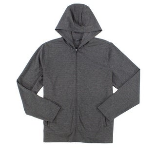 Alfani Solid Night Gray Mens Size 2XL Hoodie Full Zip Jacket