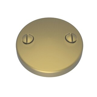 """Brasstech 266 3"""" Brass Two Hole Faceplate for Overflow"""