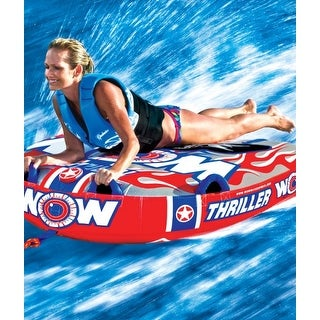 Thriller 1 Person Towable Water Tube - Starter Kit w/ 12V Pump & 1K Tow Rope