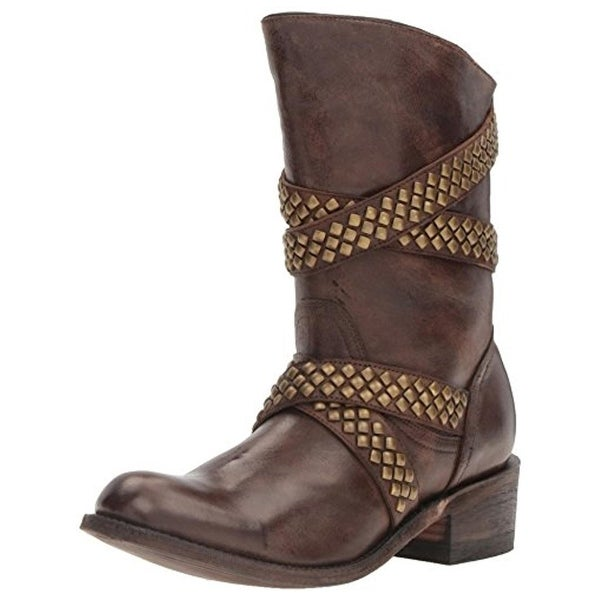 Five Worlds by Cordani Womens Sanchez Cowboy, Western Boots Leather Studded