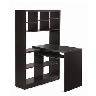 Monarch Specialties Corner computer desk IV Left or Right Facing Hollow-Core Corner Desk with Shelving