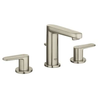 Grohe 20 302 A Europlus 1.2 GPM Widespread Bathroom Faucet with SilkMove Technology - Free Metal Pop-Up Drain Assembly with