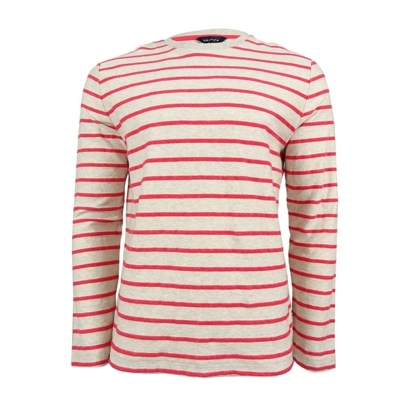 715b3035 Shop Nautica Men's Slim-Fit Striped Shirt - Oatmeal Heather - On Sale - Free  Shipping On Orders Over $45 - Overstock.com - 18947542