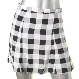 American Apparel Womens A-Line Skirt Plaid A-Line