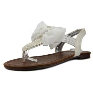 9082f5f4a8d Material Girl Womens Swan Split Toe Casual T-Strap Sandals