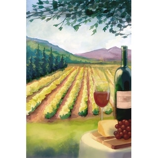 Wine Country & Vineyard - Lantern Press Artwork (Acrylic Serving Tray)