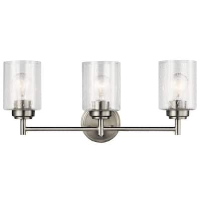 The Gray Barn Saffron 3-light Brushed Nickel Bath/Vanity Light - Brushed nickel