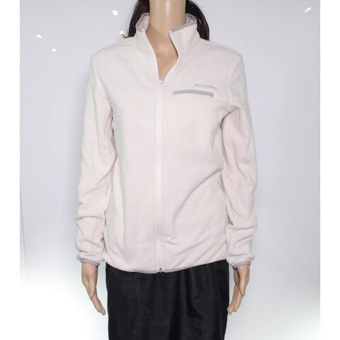 Columbia Women's Jacket Soft Beige Size Small S Fleece Piped Full Zip