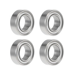 MR95ZZ Deep Groove Ball Bearing 5x9x3mm Double Shielded Chrome Bearings 4pcs - 4 Pack - MR95ZZ (5*9*3)