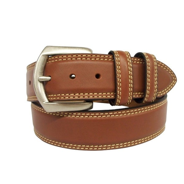 G-Bar-D Western Belt Mens Leather Silver Finish Brown