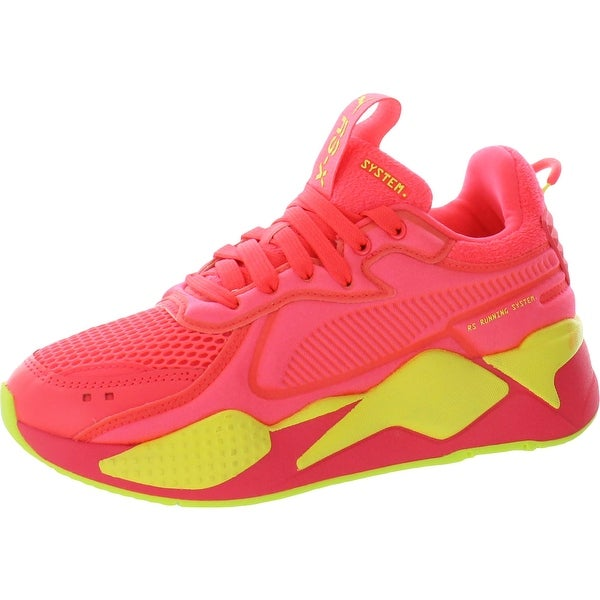 Puma Womens RS-X Soft Case Running Shoes Mesh Workout - Pink Alert/Yellow Alert. Opens flyout.