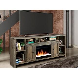 Carbon Loft Pendragon Barnwood Super 84-inch Fireplace