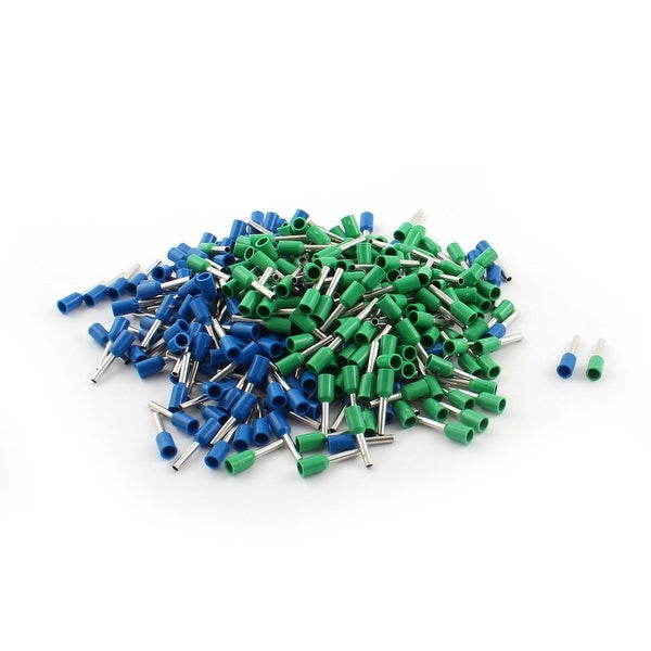 320Pcs E1008 18AWG Blue Green Tube Head Insulated Cable End Terminal