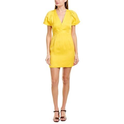 Derek Lam 10 Crosby Crossover Linen-Blend Mini Dress