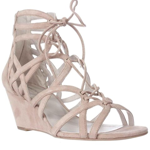 Kenneth Cole New York Dylan Wedge Strappy Sandals, Buff