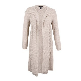 Style & Co. Women's Plus Size Cable-Knit Duster Cardigan