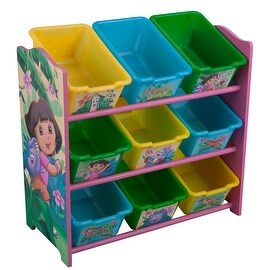 Dora the Explorer 9 Bin Toy Box Organizer by Delta