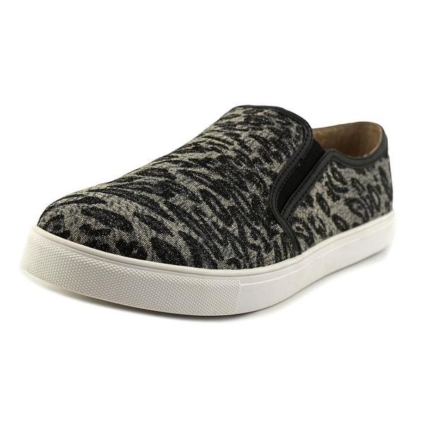 J/Slides Pewte Women Leopard Flats