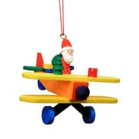Santa in Plane Ornament