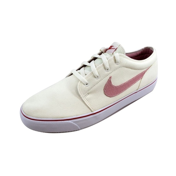f5bd262f18f Shop Nike Men s Toki Low Textile Premium Sail University Red-White ...