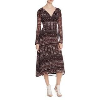 Sanctuary Womens Fleur Casual Dress Printed Chiffon